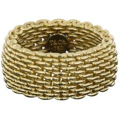 18 Karat Yellow Gold Tiffany & Co. Somerset Mesh Band
