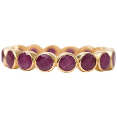 2.25 Carat Ruby and 18 Karat Yellow Gold Eternity Band