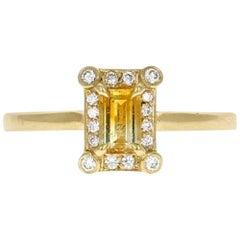 Stella 18 Karat Yellow Gold Malawi Bi-Color Sapphire Ring