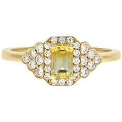 Bella 18 Karat Yellow Gold Malawi Bi-Color Sapphire Ring