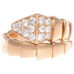 Bulgari Serpenti Diamond Rose Gold Ring