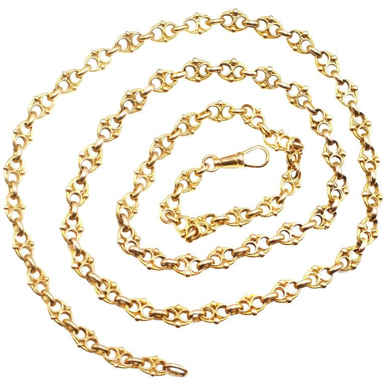 18 Karat Yellow Gold Long Chain