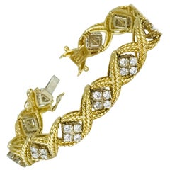 Midcentury, Diamond Link Bracelet with 3.00 Carat Total Weight