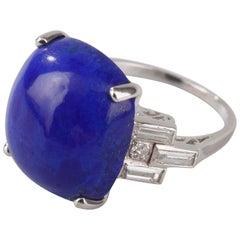 Art Deco Lapis Lazuli Ring