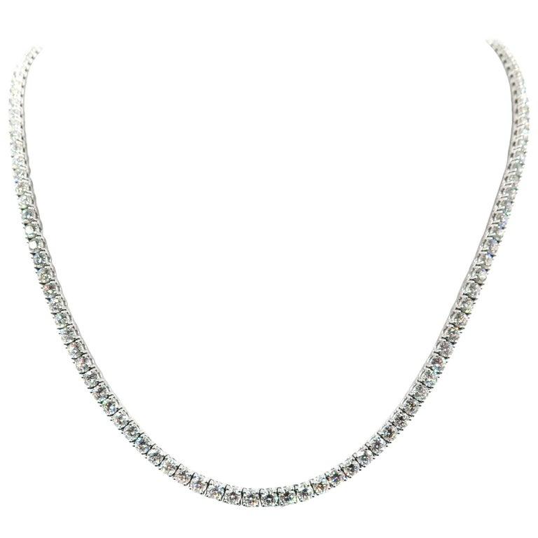 Graduated Riviera Diamond Necklace
