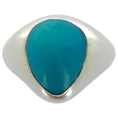 Turquoise Natural on Silver Ring