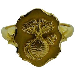 Solid Gold Art Deco Die Struck Ring