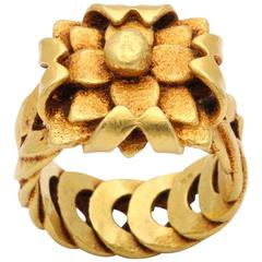 Gold Basket Ring