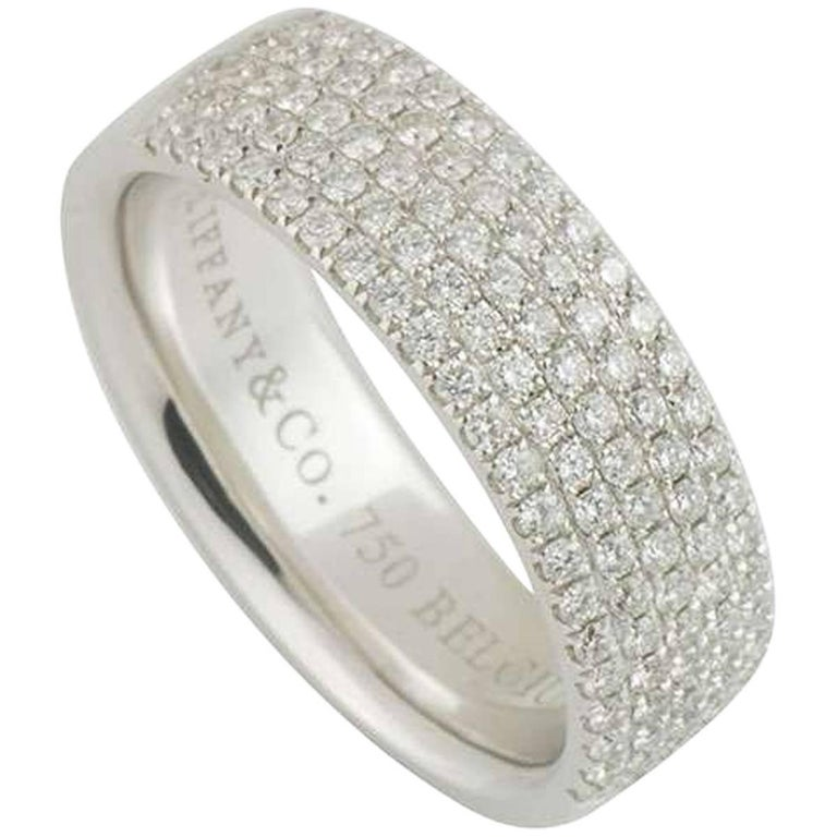 tiffany and co metro five row diamond band ring for sale at 1stdibs