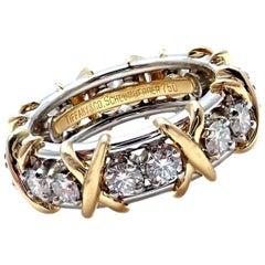Tiffany & Co. Jean Schlumberger 18 Karat Gold Platinum Diamond Ring