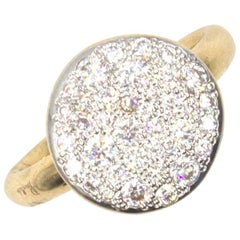 Pomellato Pave White Diamond 18 Karat Rose Gold Ring