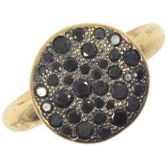 Pomellato Pave Black Diamond 18 Karat Rose Gold Ring