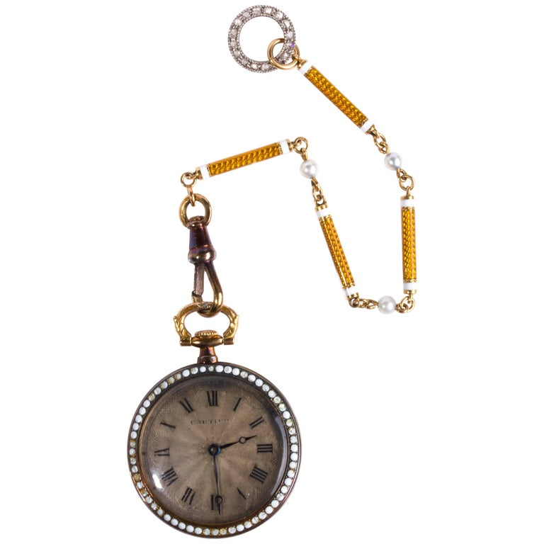 Art Deco Pocket Watch Signed Cartier