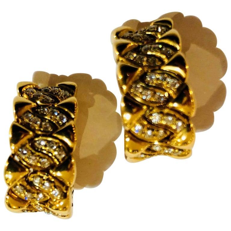 1970 Bulgari Diamonds Earrings
