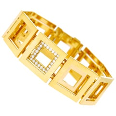 Blochliger Modernist Gold Bracelet