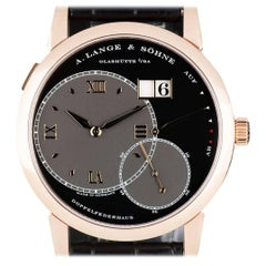 A. Lange & Sohne Rose Gold Grand Lange 1 Manual Wind Wristwatch Ref 115.031