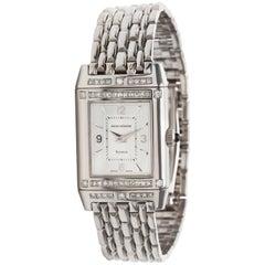Jaeger LeCoultre Reverso Women's Watch in 18 Karat White Gold