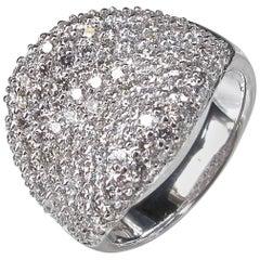 Diamond Cluster White Gold Ring