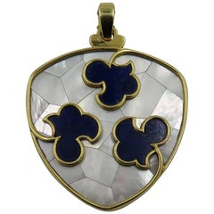 Cartier Lapis Lazuli, Mother-of-Pearl and Gold Pendant
