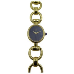 Baume & Mercier Yellow Gold Lapis Lazuli Manual Wristwatch