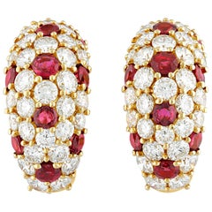 Ruby and Diamond Cuff Earrings by Tiffany & Co.