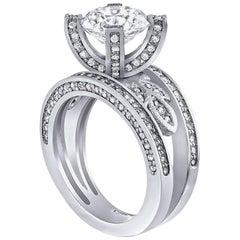 Alex Soldier Princess Platinum Diamond Engagement Ring
