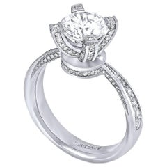 Diamond Gold Princess Engagement Ring One of a Kind