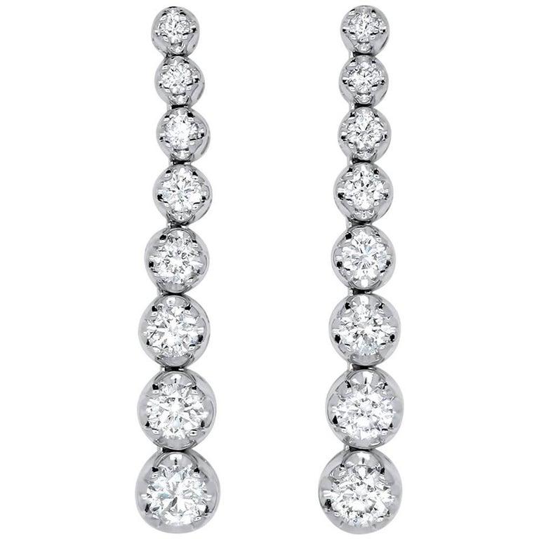 2 83 Carat Graduating Diamond Drop Earring