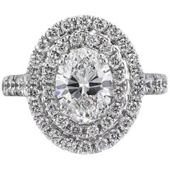 Mark Broumand 3.56 Carat Oval Cut Diamond Engagement Ring