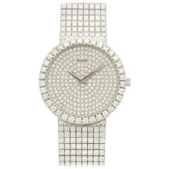 Piaget White Gold Diamond Tradition Automatic Bracelet Wristwatch