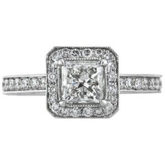 Mark Broumand 2.31 Carat Princess Cut Diamond Engagement Ring