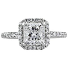 Mark Broumand 2.27 Carat Princess Cut Diamond Engagement Ring