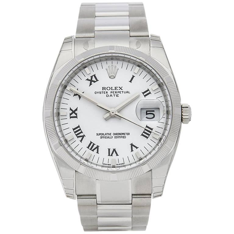 Rolex Oyster Perpetual Date Stainless Steel Unisex 115210