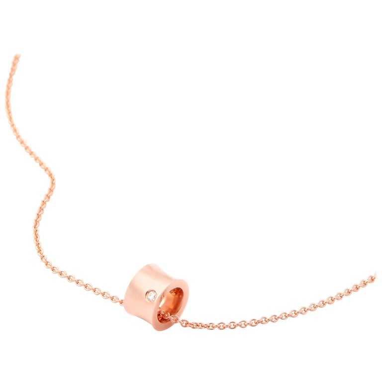 Rose Gold Freedom Pendant Necklace