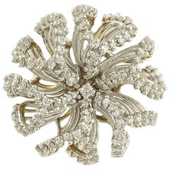 Diamonds White Gold Flower Ring