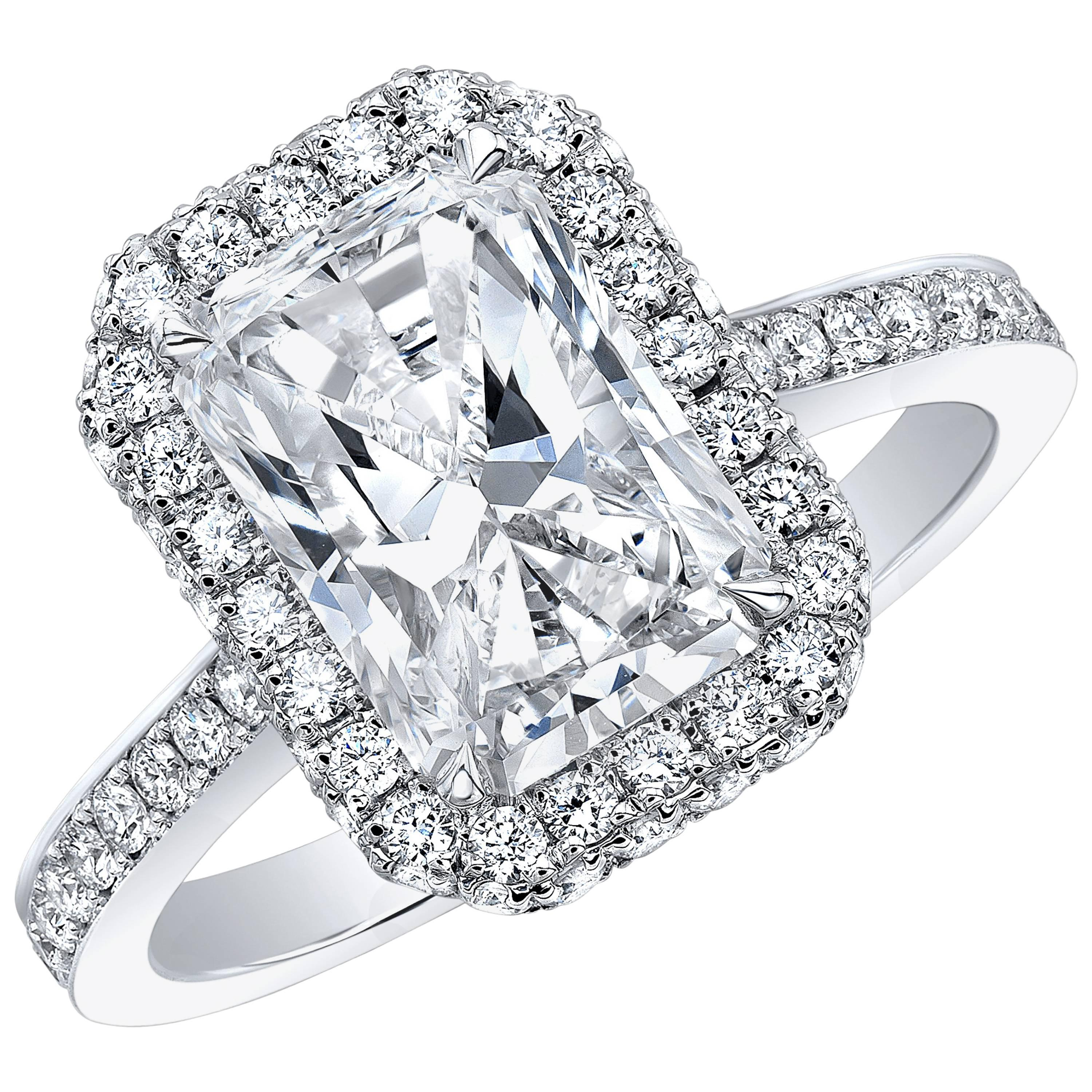 ring rings solitaire platinum engagement four claw diamond mounted