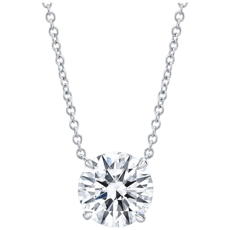 GIA Certified 1.20 Carat G VS2 Round Diamond Solitaire Pendant