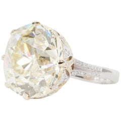Old Mine European Diamond 25.71 Carat Ring from an Old Estate