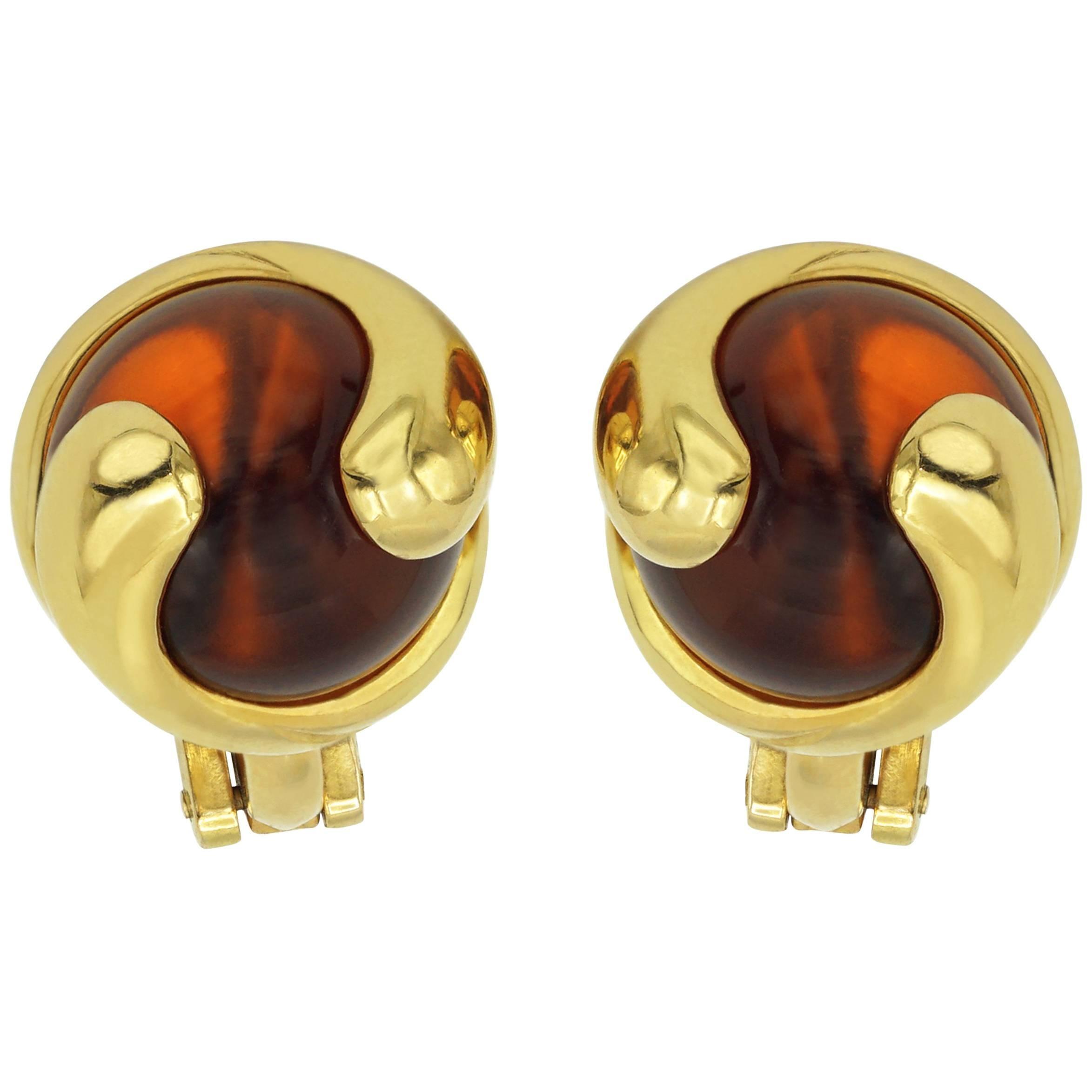 Marina B. Earrings Cardan, Orange