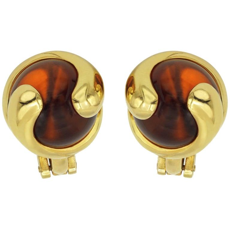 Marina B. Earrings Cardan, Orange