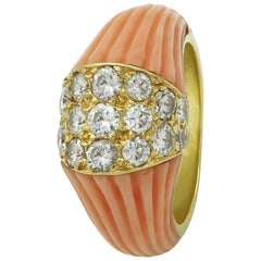 Cartier Coral Diamond Ring