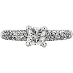 Mark Broumand 1.45 Carat Princess Cut Diamond Engagement Ring