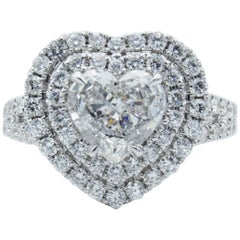 David Rosenberg 1.18 Carat Heart Shaped E/VS2 GIA Diamond Engagement Ring
