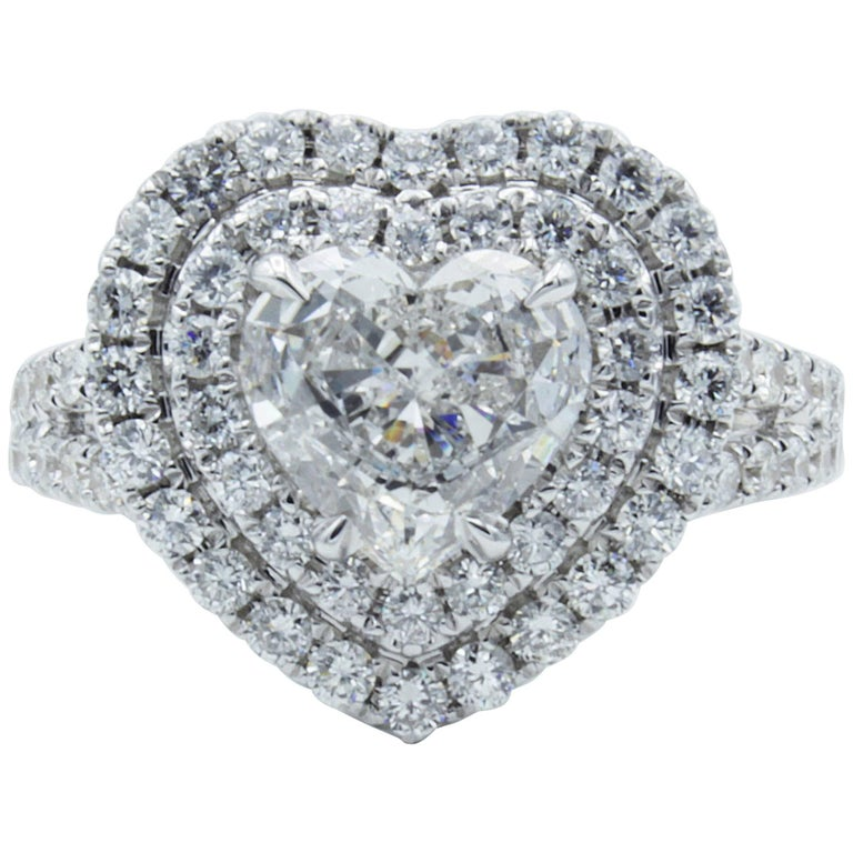 David Rosenberg 1.18 Carat Heart Shaped E/VS2 GIA Diamond Engagement Ring