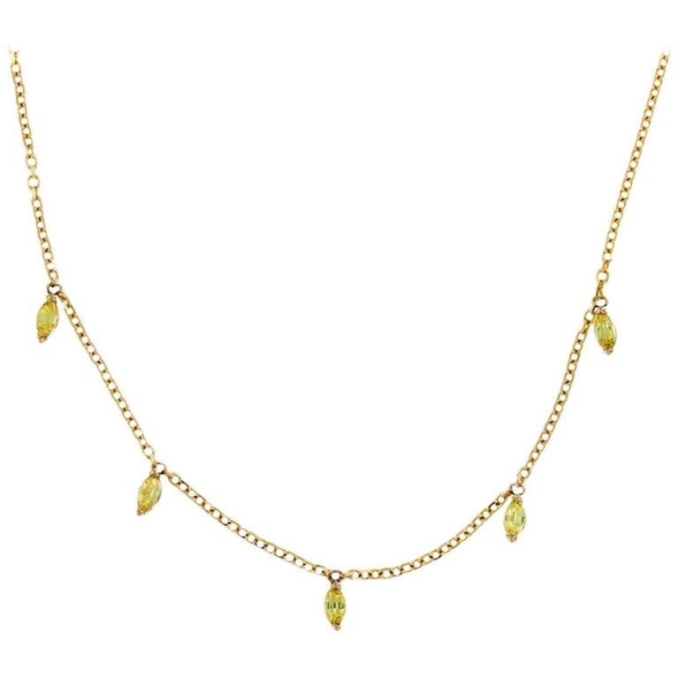 Nadia 18 Karat Gold Yellow Sapphire Necklace