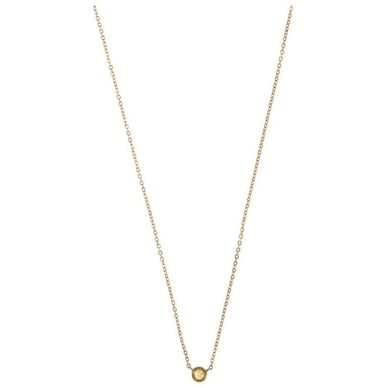 Olivia 14 Karat Gold Rustic Diamond Necklace