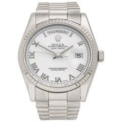 Rolex Day-Date 18 Karat White Gold Unisex 118239