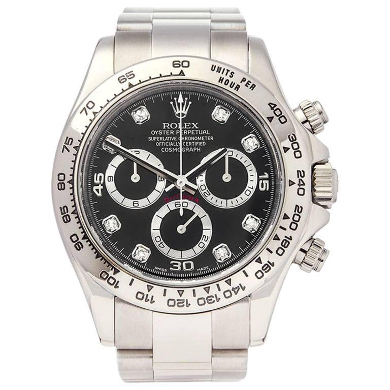 Rolex Daytona Chronograph 18 Karat White Gold Men S 116509 At 1stdibs