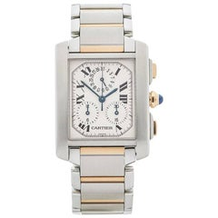 Cartier Tank Francaise Chronoreflex Stainless Steel and 18 Karat Gold Unisex