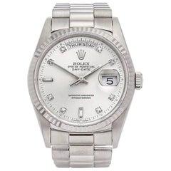 Rolex Day-Date 18 Karat White Gold Unisex 18239
